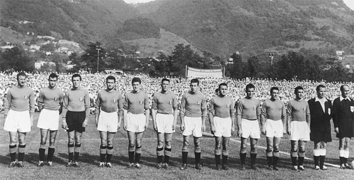 20.06.1954 Бельгия - Италия 1:4. Italy national team