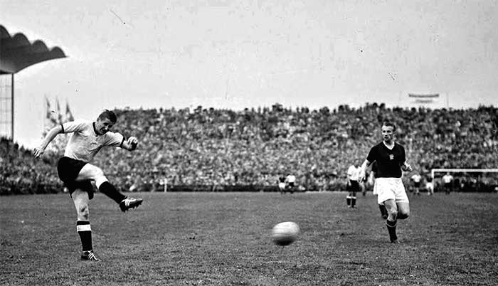 04.07.1954 West Germany - Hungary 3:2. Helmut Rahn 84 min 3:2
