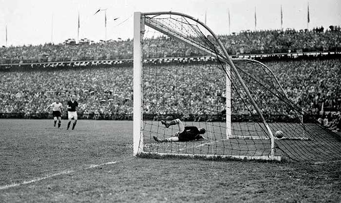 04.07.1954 West Germany - Hungary 3:2. 84 min. Gyula Grosics не выручил. 3:2