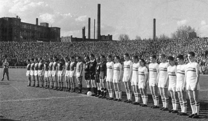 16.04.1961 Венгрия - ГДР. Photo of both teams