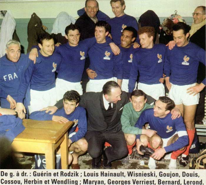 27.02.1963 France - England 5:2. France national team