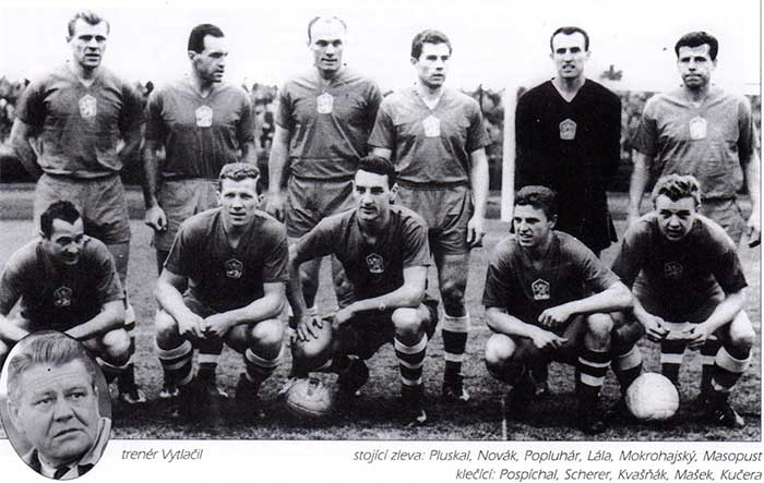 31.03.1963 Czechoslovakia - East Germany 1:1. Czechoslovakia squad