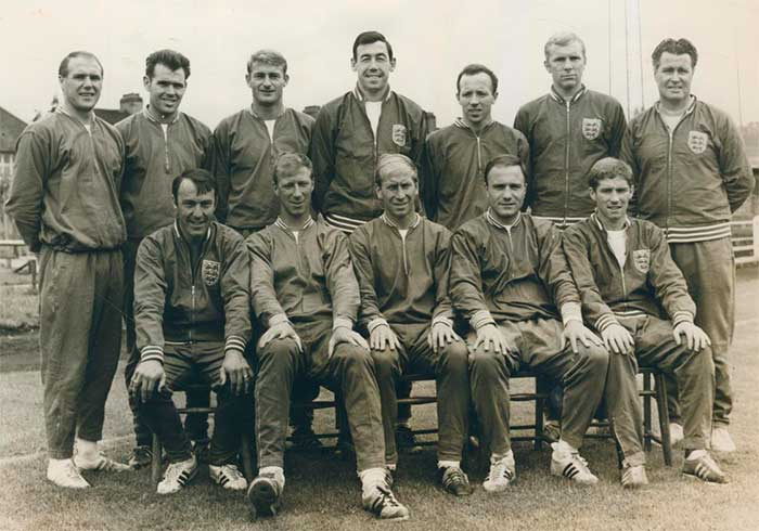England team to play in the opening match of the 1966 World Cup against Uruguay
