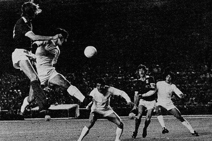 03.10.1973. Real Madrid - Ipswich Town 0:0. Ipswich Town attacking duo Trevor Whymark and David Johnson