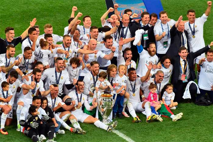 Real Madrid CF - winner of UEFA Champions League 2015-2016.