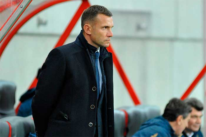 16.11.2018 Slovakia - Ukraine 4:1. Coach Andriy Shevchenko Ukraine national football team 1:4
